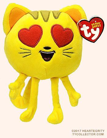 CAT WITH HEART EYES - emoji - Ty Beanie Babies