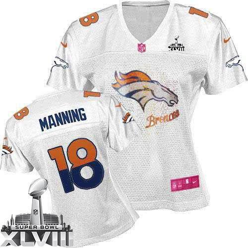 2014 super bowl jerseys denver broncos 18 peyton manning