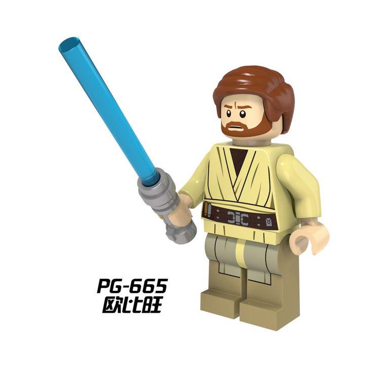 Star Wars Minifigures Darth Vader Yoda Obi Wan Han Solo Clones BB-8 R2-D2 BB8 figures toys Kids Gift