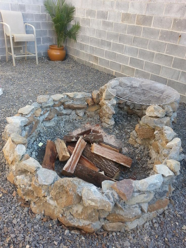 My version of a rip-rap fire pit and grill combo