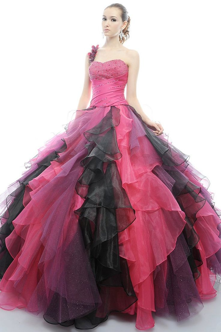Fuchsia Quinceanera Dresses 2012 2012 gown...a mix of t...