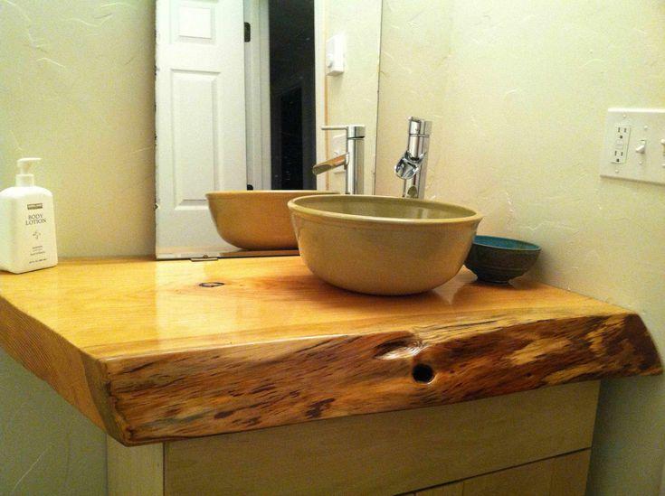 wood from land, handmade vessel sink?