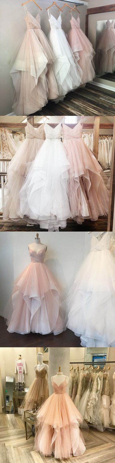 elegant tulle princess ball gown wedding dresses,available in champagne,blush pink,champagne ! #wedding #weddinggowns #bridal #bride #pink #champagne #princess #ball gowns #vestidosdenoiva #novias #elegant #weddingdress2017 #tulle #moda