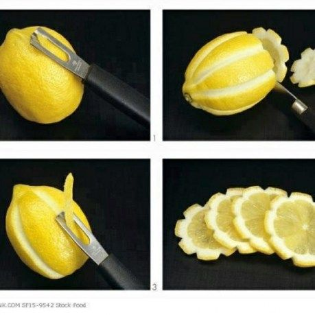 Fancy lemons for fancy parties! Simple and cute. :): Food Garnish, Fancy Lemon, Lemon Flowers, Food Decoration, Pretty Lemon, Party Ideas