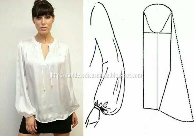 silky blouse with bishop sleeves diy sleeve