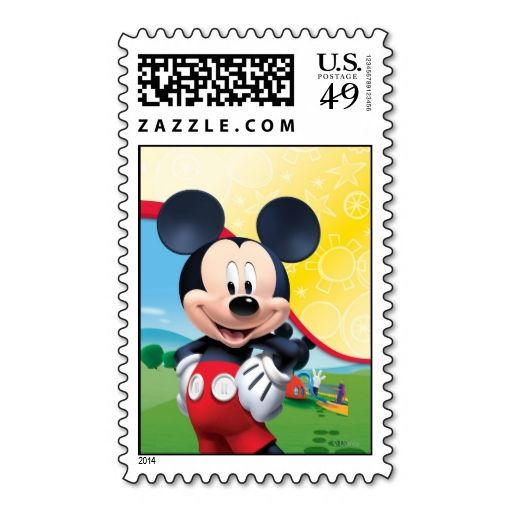 Mickey Mouse Stamp. This great stamp design is available for customization or ready to buy as is. Of course, it can be sent through standard U.S. Mail. Just click the image to make your own!