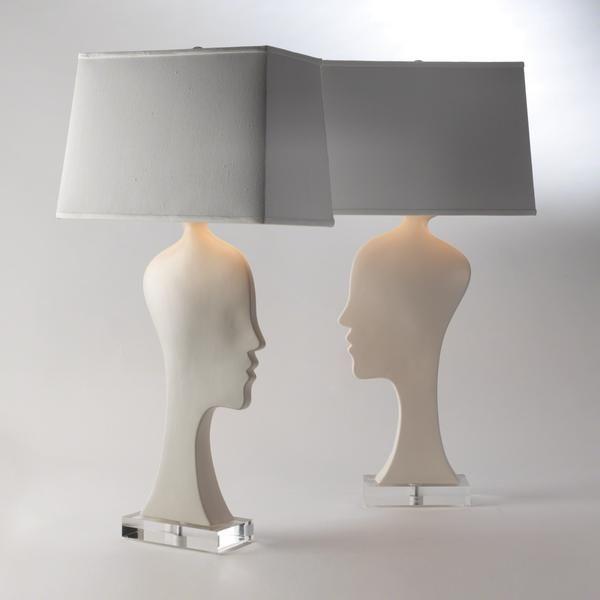 Silhouette Lamp Table Lamp Lamp White Ceramic Lamps