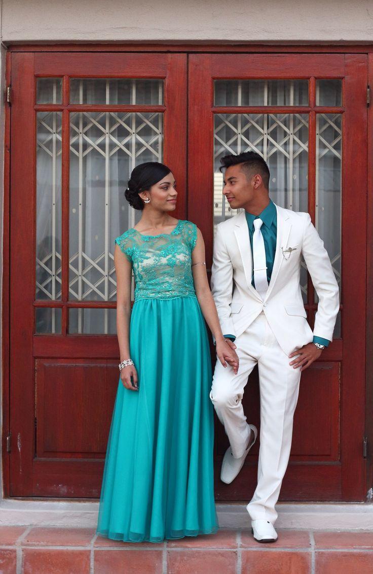 Matric dance couple pose