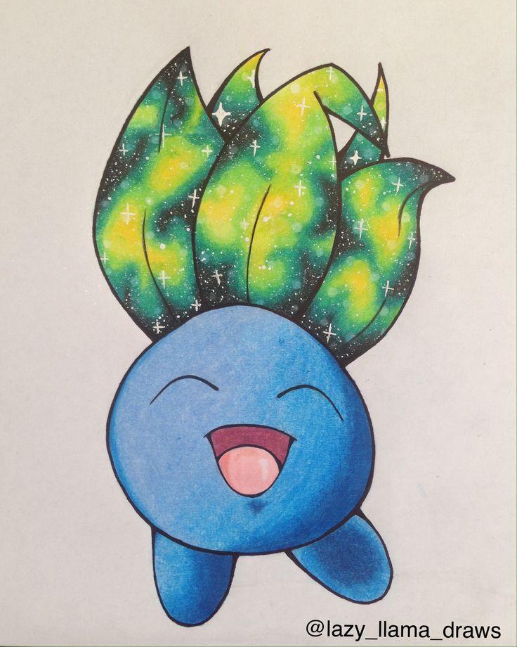 Drawing galaxy  Pokémon Oddish