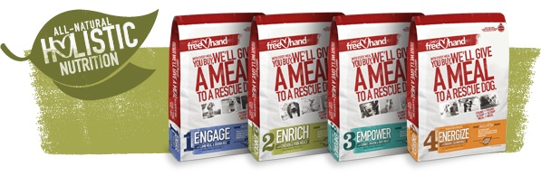 Grain Free Dog Food with Premium Ingredients   FreeHand Dog Food  Buy a bag and they donate a bag to a shelter!