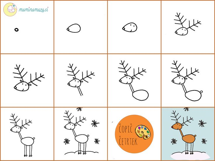 how to draw a reindeer pinterest