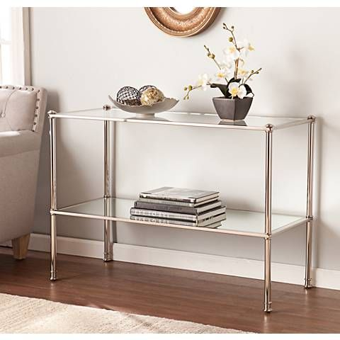 Super Paschall 42 1 2 Wide Metallic Silver Console Table 39G39 Squirreltailoven Fun Painted Chair Ideas Images Squirreltailovenorg