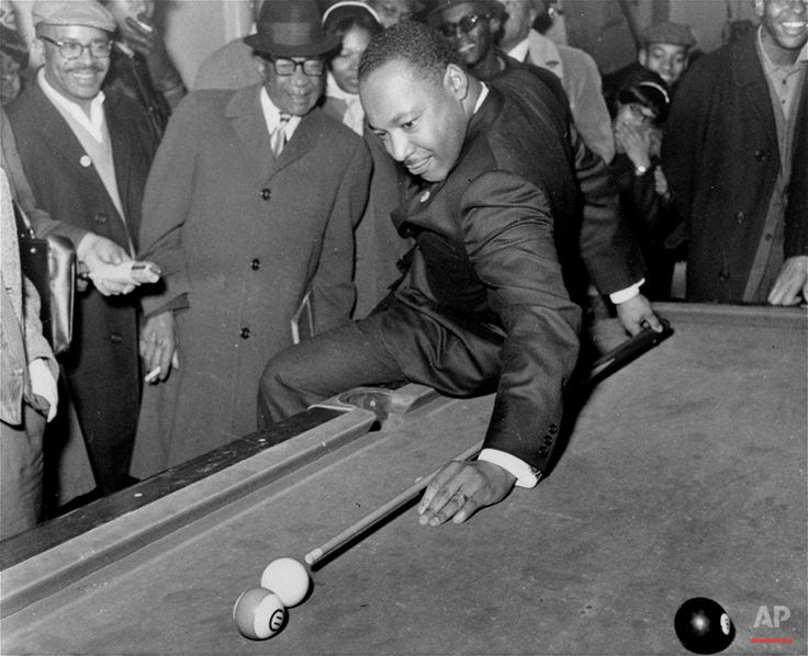 During a visit to a pool hall, February 18, 1966, Dr. Martin