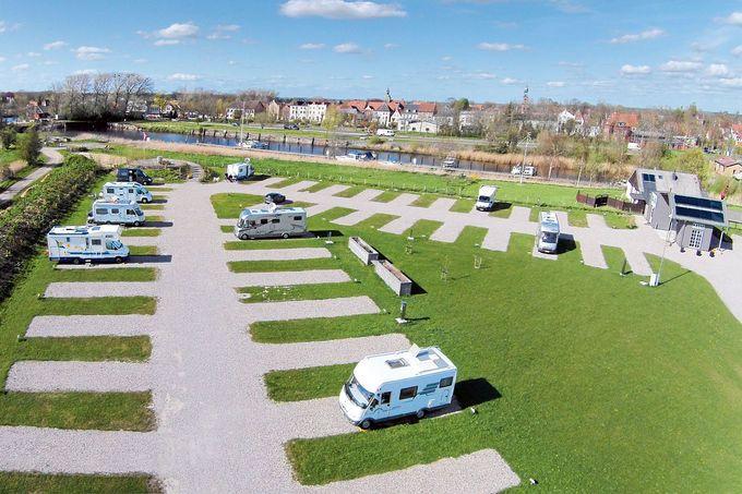 Wohnmobilstellplatz Friedrichstadt, Schleswig Holstein, Nähe Nordsee