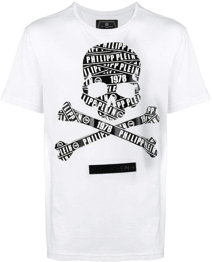 Philipp Plein logo skull T shirt | Philip plein nel 2019