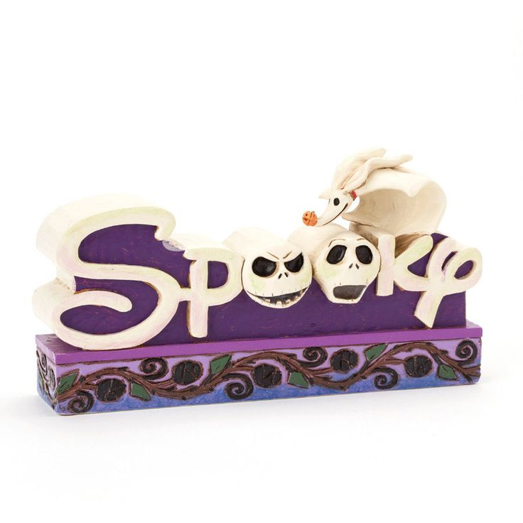 Jack Skillington Spooky Word Plaque by Jim Shore and Disney Traditions 4038492