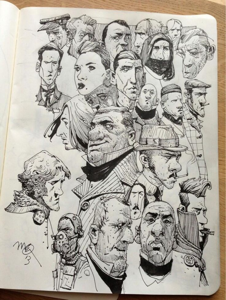 Sketchbook: Faces.