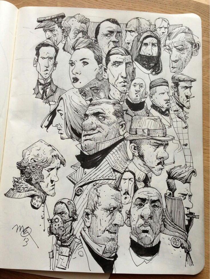 Sketchbook: Faces.