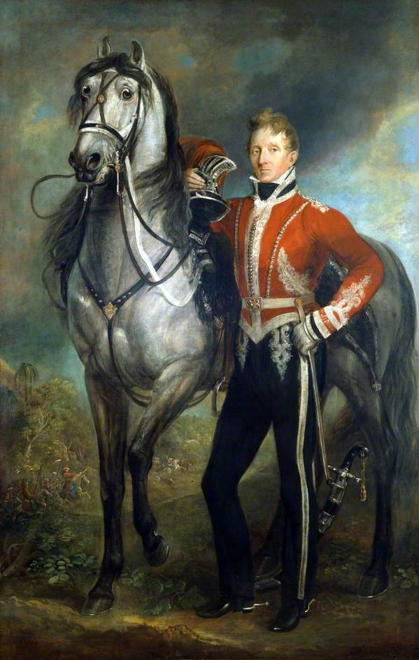 Major George Cunningham or Cuninghame (1783–1838), 7th Bengal Native Infantry, Commanding 2nd Corps Rohilla Cavalry by James Howe