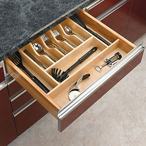 """Rev-A-Shelf Cabinet Drawer Wood Cutlery Drawer Insert Small 22"""" x 14.62"""" Large 22"""" x 20.62"""""""