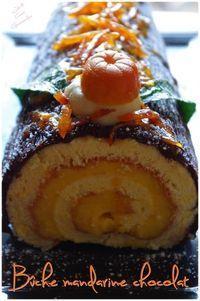 Recette de Bûche mandarine chocolat : la recette facile