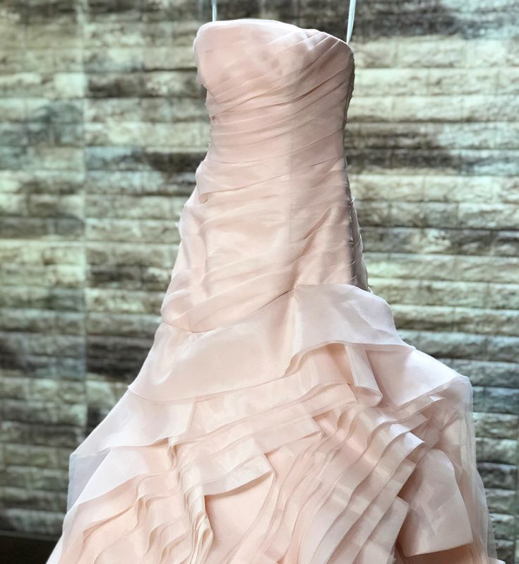 WHITE by VERA WANG Blushのクリーニングです  様々なラインで織りなされたフリルが立体的にスカートへ奥行きを持たせるデザインは今でも沢山のプレ花嫁様達の憧れの着として高い人気をもつドレスです  前裾のチュールが破れやすい傾向がありますのでこれからご利用になられる方は少し気を付けた方がいいかもしれません_   #ヴェラウォン #ヴェラウォンブラッシュ#ウエディングドレス#ウェディングドレス#プレ花嫁#卒花嫁 #結婚式ドレス #verawanghayley #結婚式 #ブライダルメイク #結婚式場 #ウェディングニュース #ウエディングブーケ#ドレスクリーニングプレ花嫁デビュー#marry花嫁 #結婚式準備  #ウェディングドレス試着#ウエディングドレス試着  #ドレス迷子#日本中のプレ花嫁さんと繋がりたい#2018春婚 #2018夏婚 #2018秋婚 #verawang#weddingdresses#weddingdress#japanprewedding#weddingphotography#ロケーションフォト