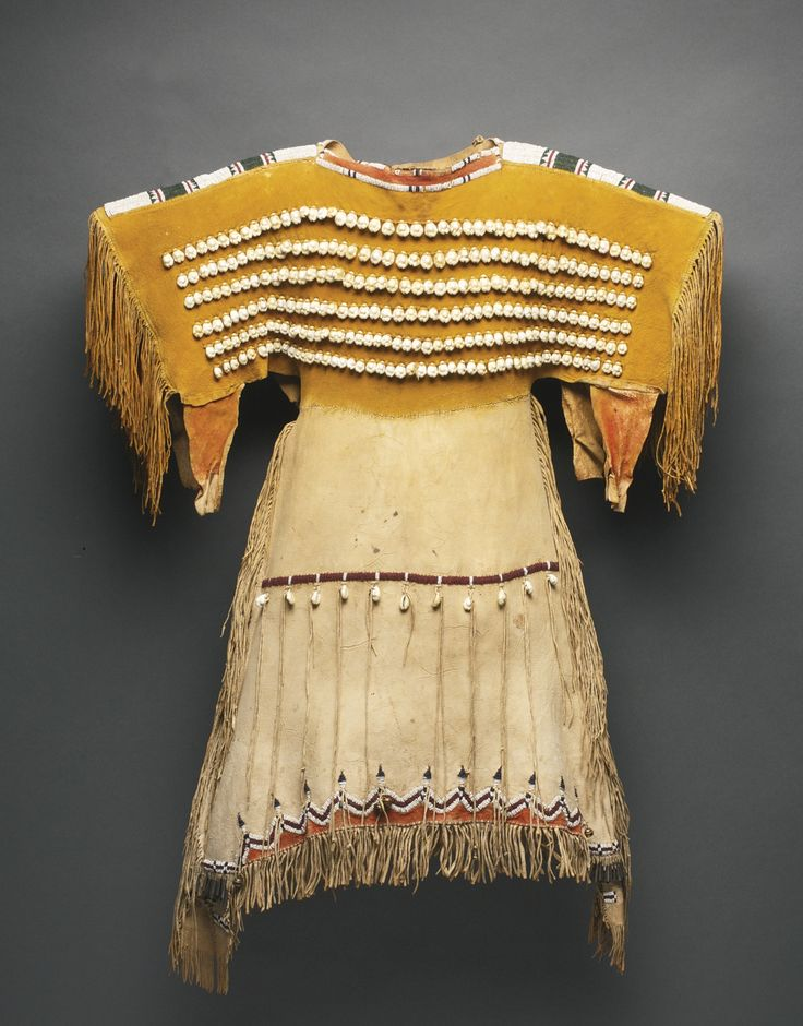 Southern Cheyenne Beaded and Fringed Hide Girl's Dress | Lot | Sotheby's