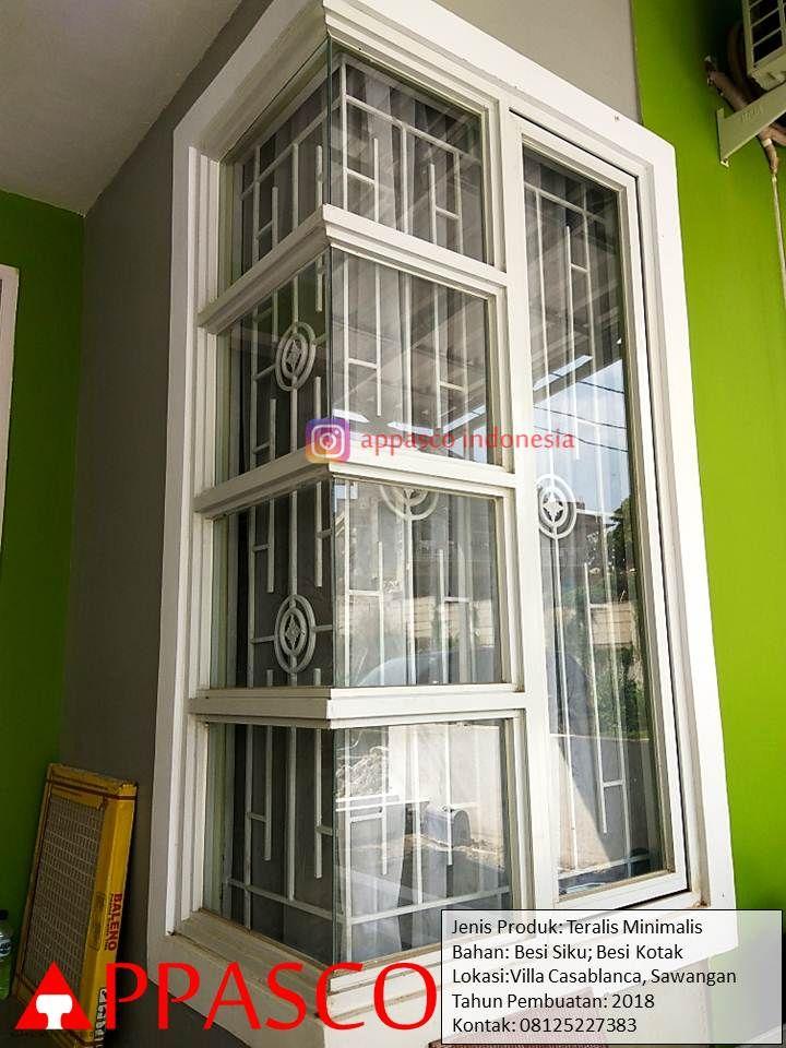 Teralis Jendela Sudut Rumah Yang Cantik Menawan Cocok Untuk Rumah Minimalis Sederhana Pemesanan 08125227383 Jendela Villa Minimalis