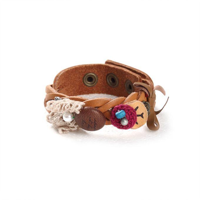 [Thursday Island] Women Shoes & Accessories Accessories WOMEN'S TWISTED LEATHER BRACELET T146MAC135W