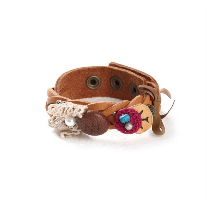 [Thursday Island] Women Shoes & Accessories Accessories WOMEN'S TWISTED LEATHER BRACELET T146MAC135W