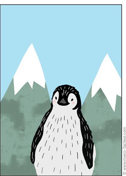 Trouvez de très belles cartes à envoyer en Février ! http://www.merci-facteur.com/carte-fevrier.html #Carte #Février #montagne #lac #ski #neige #vacances #froid #saison #Hiver Carte Petit pingouin pour envoyer par La Poste, sur Merci-Facteur !