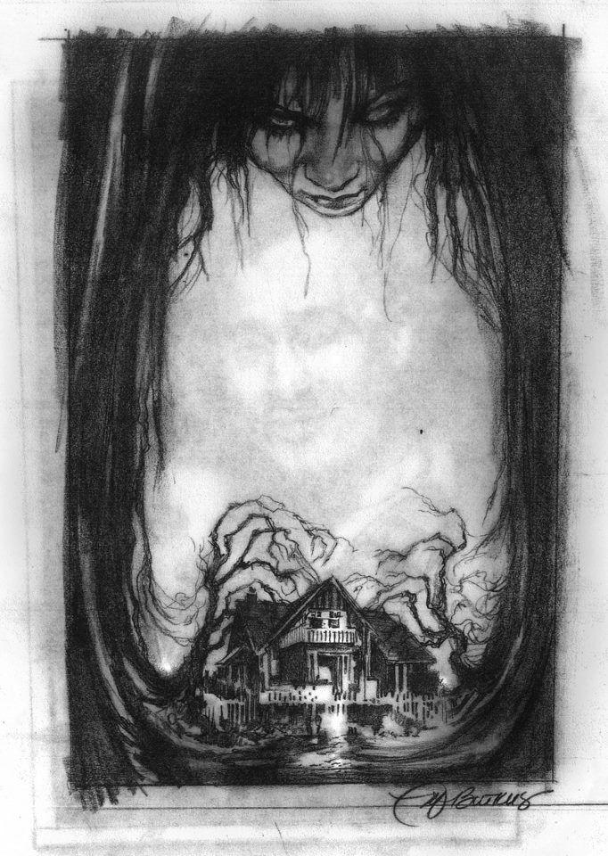 Creepy stuff mike butkus · scary drawingsblack white arthorror comicsweird