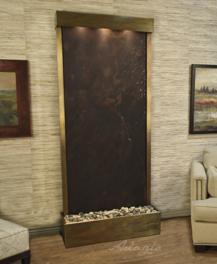 Captivating This Modern Tranquil River Floor Water Feature Is Perfect For The Living  Room. Everyone Absolutely Loves My New Fountain; I Have No Regrets, ...