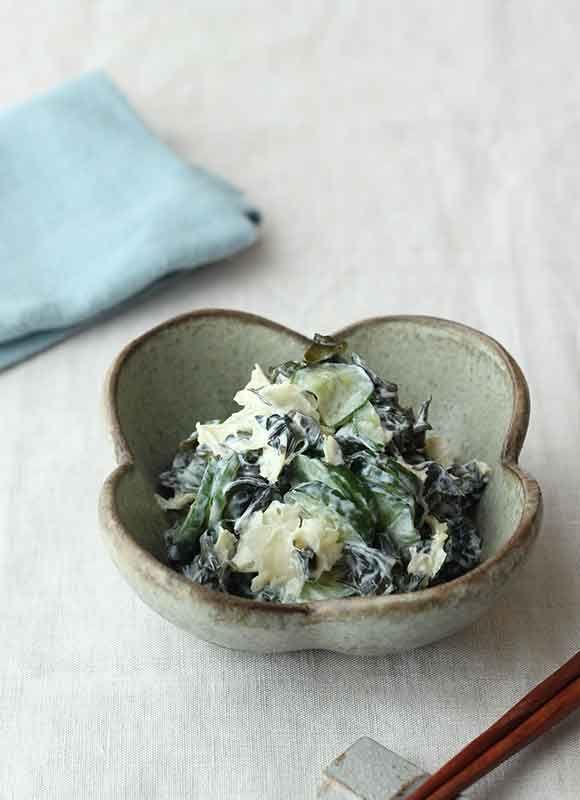 ヨーグルト×乾物レシピ  クリーミー海藻サラダ