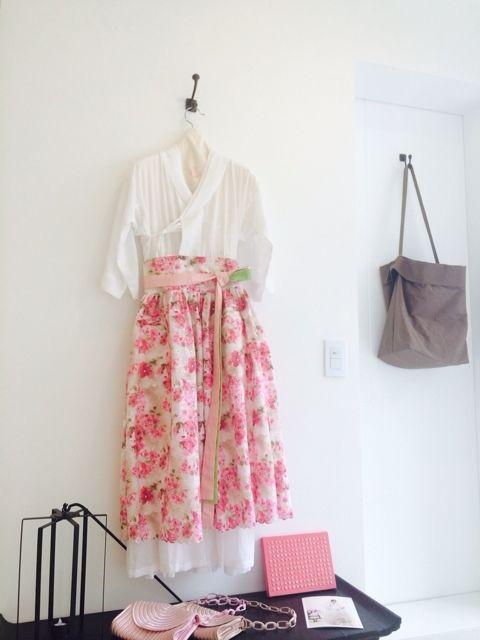 차이킴, tchaikim, 철릭원피스, floral, 개량한복, korea
