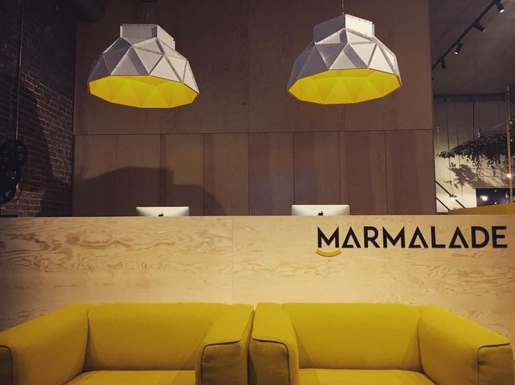 Entrance of the workspace of MARMALADE Films in Ghent, Belgium starring the Apollo Lampshade by Romy Kühne for Dark