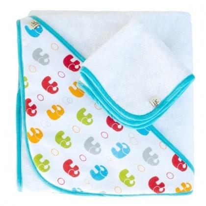 Ręcznik z kapturkiem JJ Cole (primary elephants)