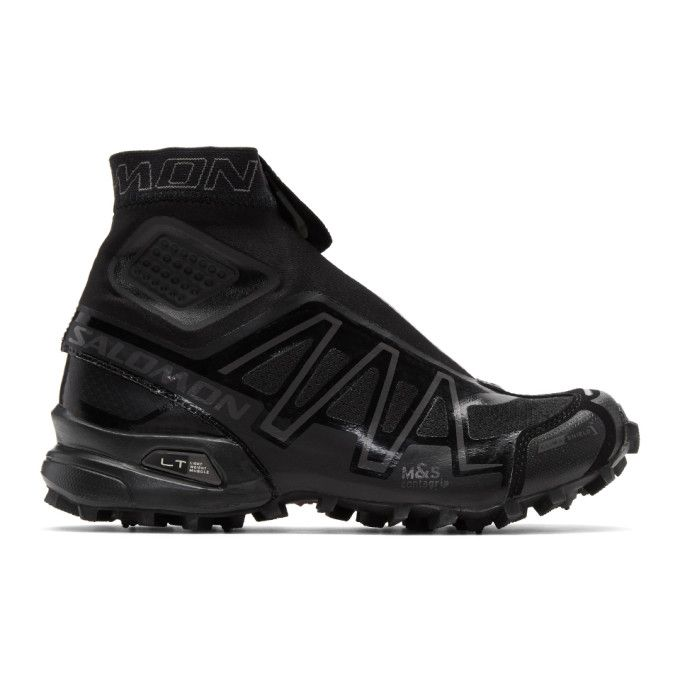 SALOMON Black S-Lab Snowcross LTD Edition High-Top Sneakers. #salomon #shoes #