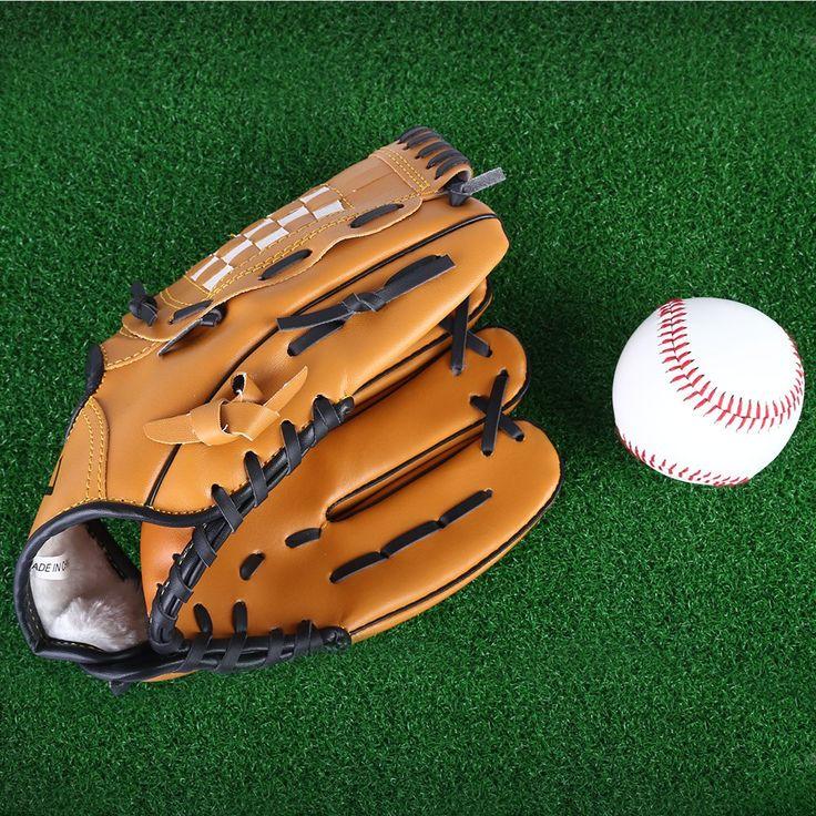 1 Unids Softbol Guante de Béisbol Guante De Béisbol Profesional Brown Mano Izquierda Para La Práctica de Béisbol Equipo de Béisbol Del Deporte Al Aire Libre