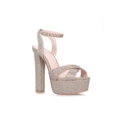 Lipsy Gold 'Verity' high heel platform sandal- at Debenhams.com