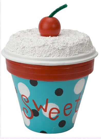 """DecoArt® """"Sweet"""" Cupcake Pot #claypot #craft"""