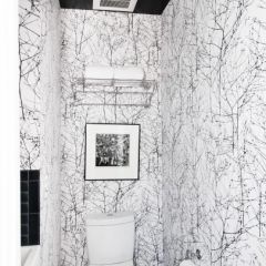 Branch wallpaper. It's like using the toilet in a winter wonderland forest.