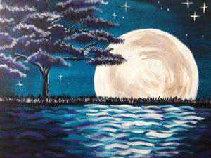 Midnight Moon Glow - Pinot's Palette St. Matthews creation