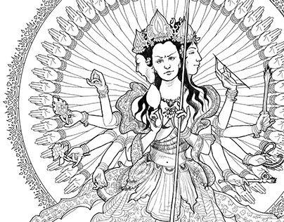 "Check out new work on my @Behance portfolio: ""Dukar / White Umbrella Goddess / Sitatapatra"" http://be.net/gallery/40176363/Dukar-White-Umbrella-Goddess-Sitatapatra"