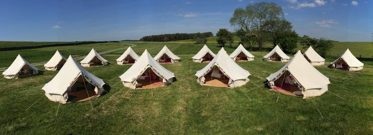 @glampit: Bell Tent village set up for a wedding near Skipton #wanderlust #getoutdoors #belltent #glamping #yorkshire #takemethere #greatindoors #fairtrade #coolcamping