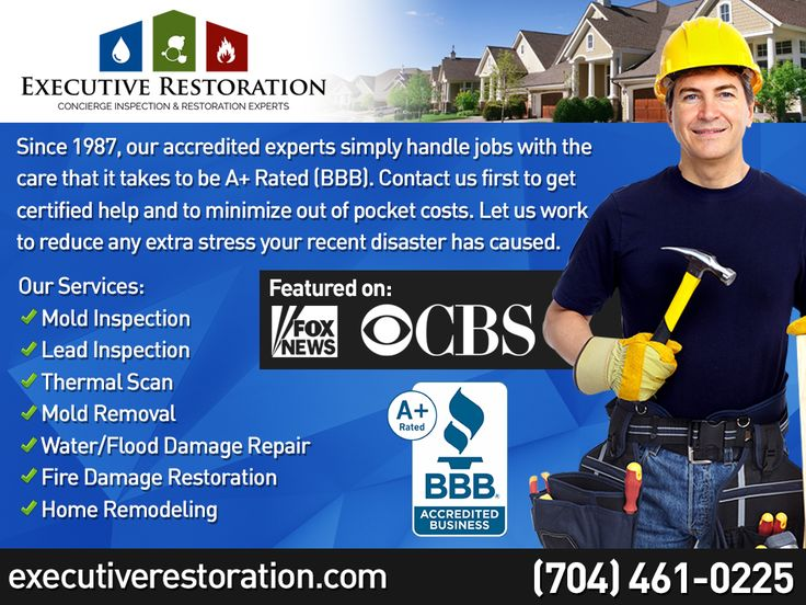 Executive Restoration is featured in the news for mold inspection, and mold removal. We turnkey remodel, restore, and protect homes, and commercial buildings. 1,000's served since 1987. Open since 1987, they've restored thousands of properties, and are certified, accredited, and insured.