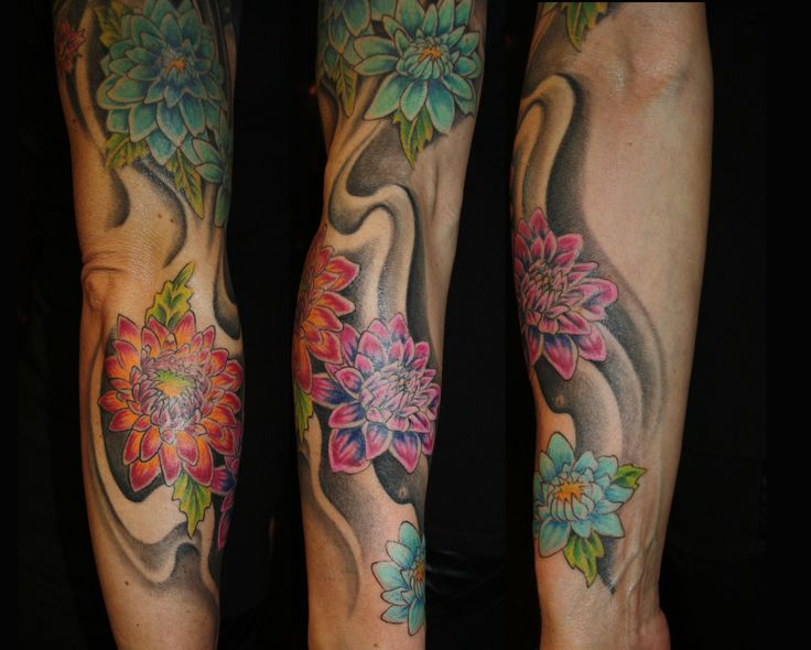#Flower #Blumen #Tattoo #Route 66 Tattoo #Bielefeld