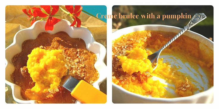 Creme brulee with a pumpkin http://mystylemyeveryday.blogspot.com/2013/11/creme-brulee-z-dyni-creme-brulee-with.html