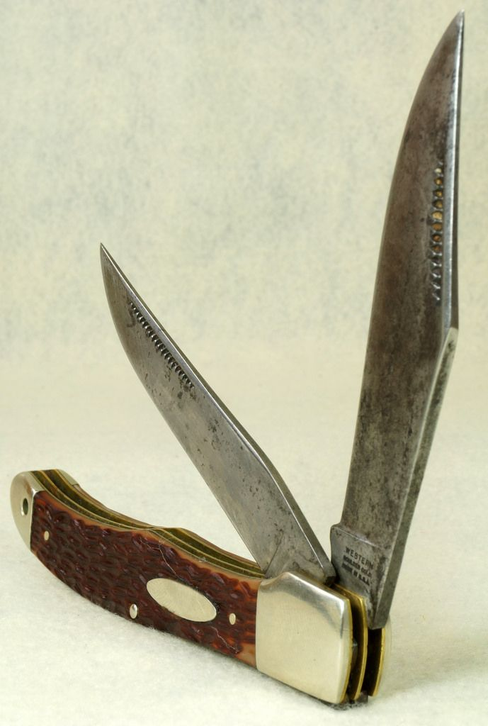 WESTERN BOULDER, COLO. MADE IN U.S.A. No. 062 Folding 2 Blade Hunter Pocket  Knife To see the Price and Detailed Description you can find this item in our Category Vintage Sporting Goods, Hunting on eBay: http://stores.ebay.com/tincanalley1/Vintage-Sporting-Goods-Hunting-/_i.html?_fsub=19469222018  RD16880