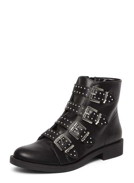 Black 'Malex' Stud Boots